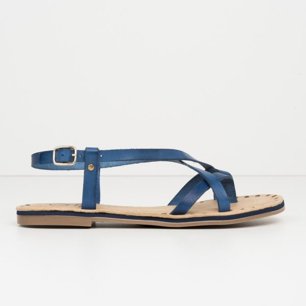 Sandalia Tiras Romana Azul