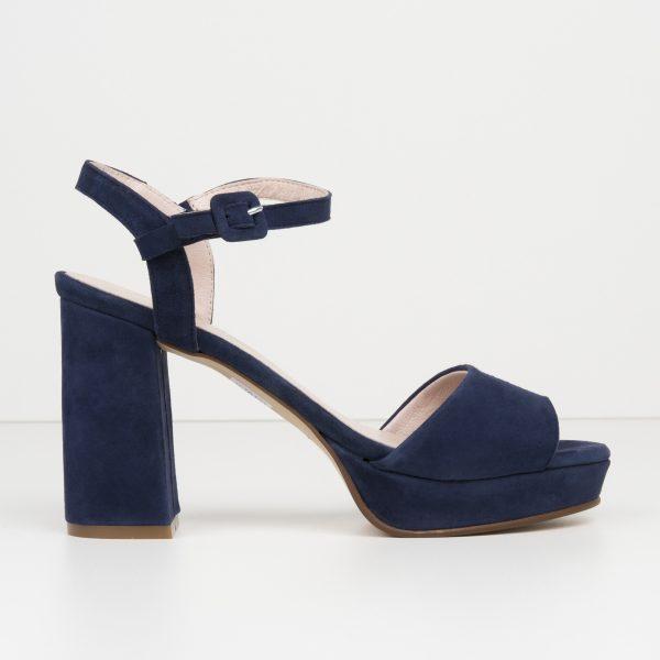 Sandalia Ante Azul Marino
