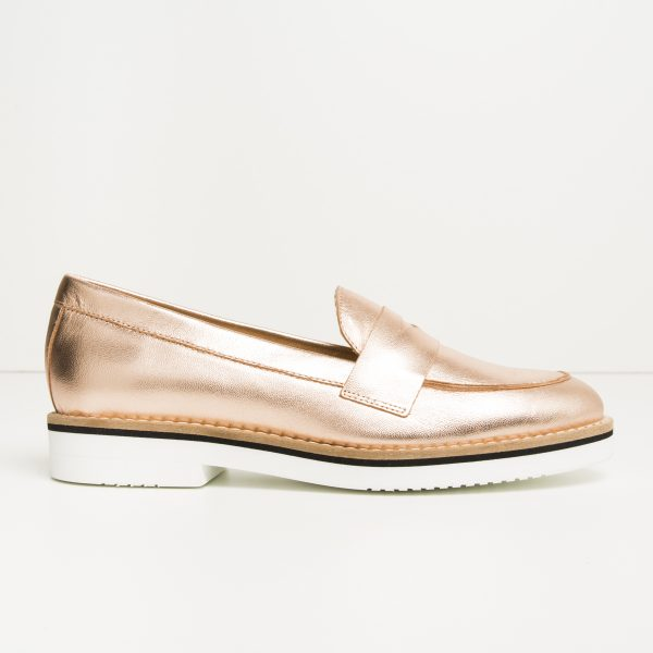 Pink Copper / Silver Covered Moccasin
