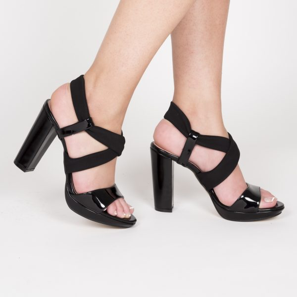 Sandalia Combinada Negro