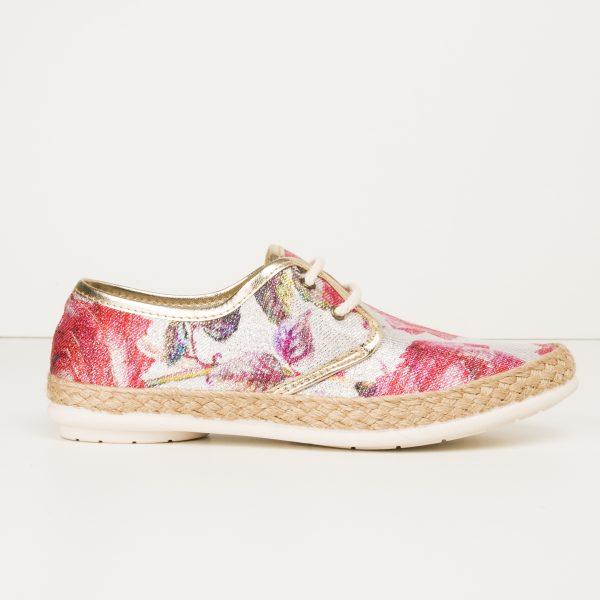 Zapatillas Yute Estampado Flores/ Trébol
