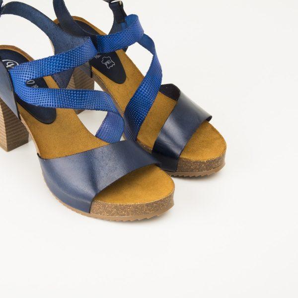 Sandalia Cruzada Bio Naranja/ Azul Eléctrico