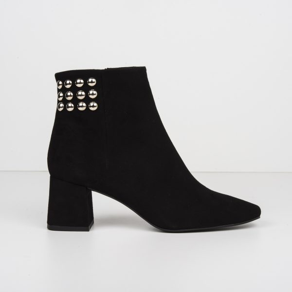 Black Pearls Party Ankle Boot