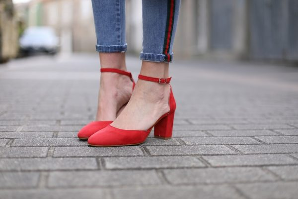 Red Suede Newton Shoe