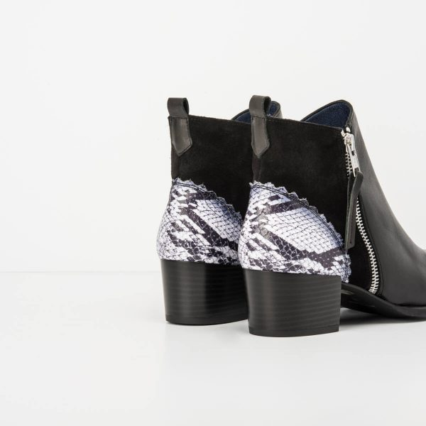 Brown/ Black Print Detail Cowboy Boot- New Colecction