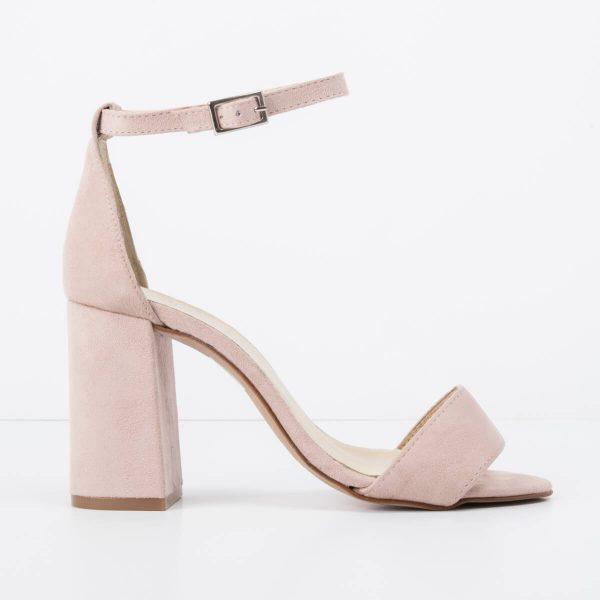 Pale Pink Suede Caroline Sandal