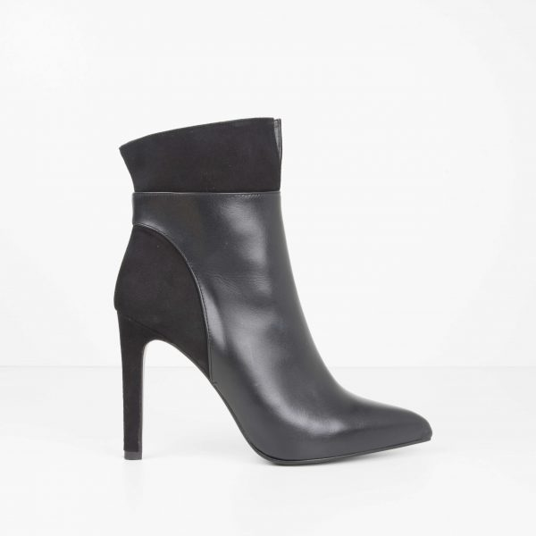 Black Pointed Toe and Fine Heel Ankle Boot