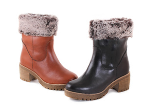 Black/Brown Leather Eskimo Boot