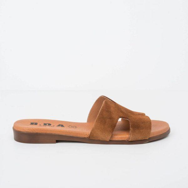 sandal flat shovel suede