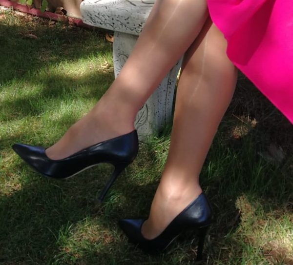 Black salon shoe